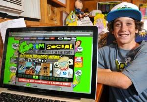 Zachary Marks et son site Grom Social