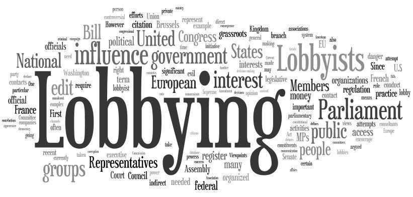 La maîtrise des institutions dans le lobbying