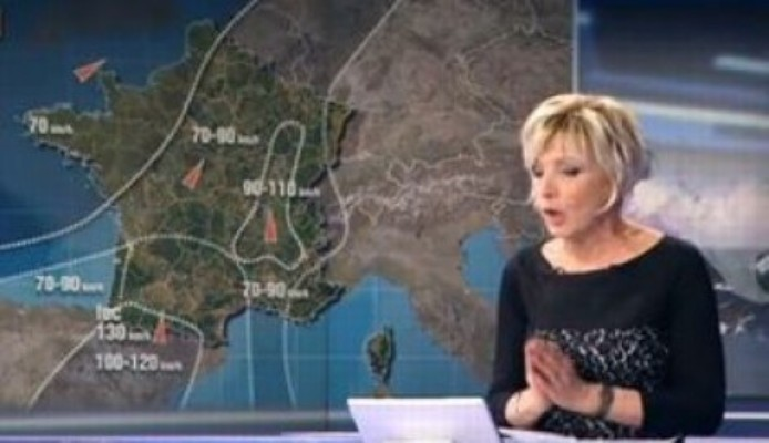 Buzz: Quand un pénis apparaît sur la carte météo d'Evelyne Dhéliat