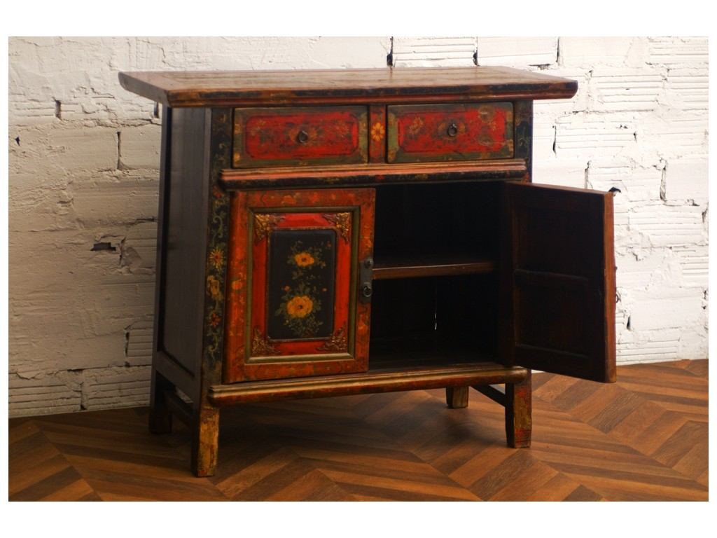 commode asiatique commode chinoise laque blanche tiroirs with commode asiatique commode. Black Bedroom Furniture Sets. Home Design Ideas