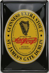Plaque en métal Guinness