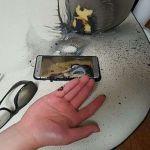 Problème de batteries qui explosent, un coup dur pour Samsung
