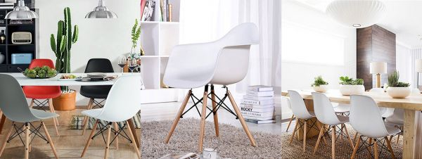 chaise scandinave mix match