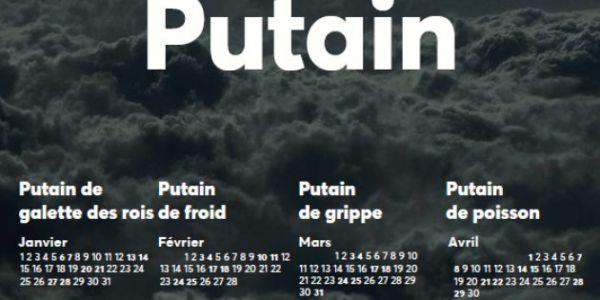 Le calendrier Putain 2019