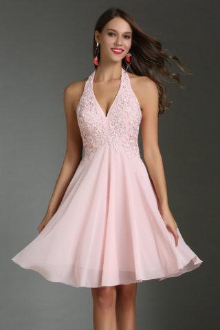 robe de cocktail rose pour mariage